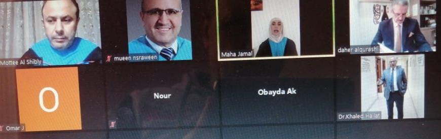 """مناقشة رسالة الماجستير رقم (29) عن بعد في """"عمان العربية"""" حول أثر التسويق الوردي في الميزة التنافسية للمطاعم السياحية في الأردن"""
