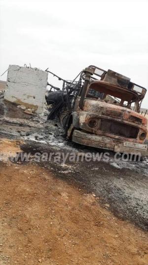 انفجار بئر نفط في منطقة الجفر واصابة شخصين  ..  وتحذيرات من وقوع كارثة نتيجة غياب الجهات الحكومية  .. صور