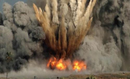 انفجار قنبلة من الحرب العالمية الثانية في ألمانيا