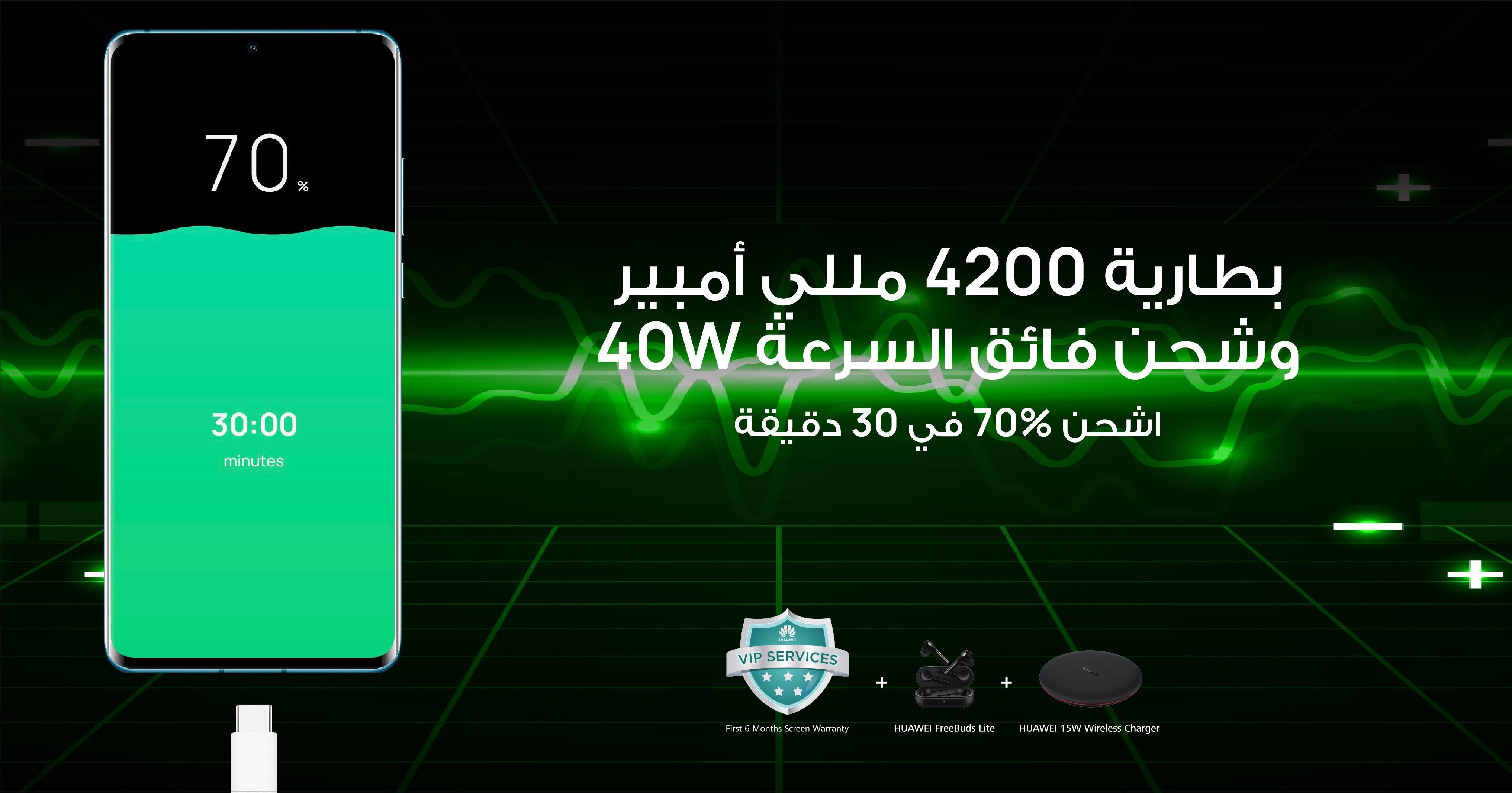 بطارية هائلة وحلول طاقة مطوّرة P30 Pro الجديد من Huawei لكل ما تتمنى!