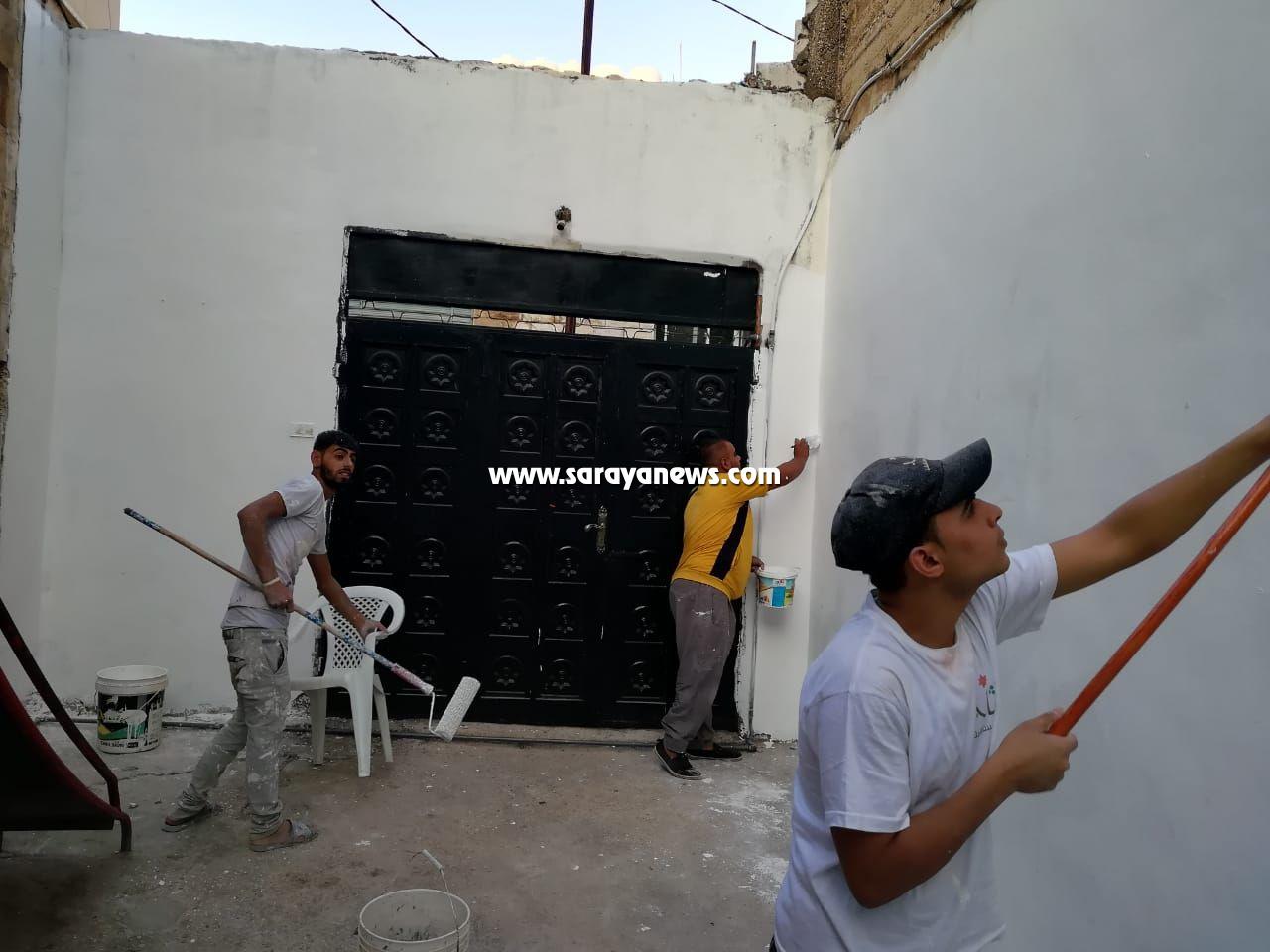 """بالصور ..  """" فَريق رَمَّمَ """" ينظم حملة تطوعية في جمعية المحافظة على القرآن الكريم بعجلون"""