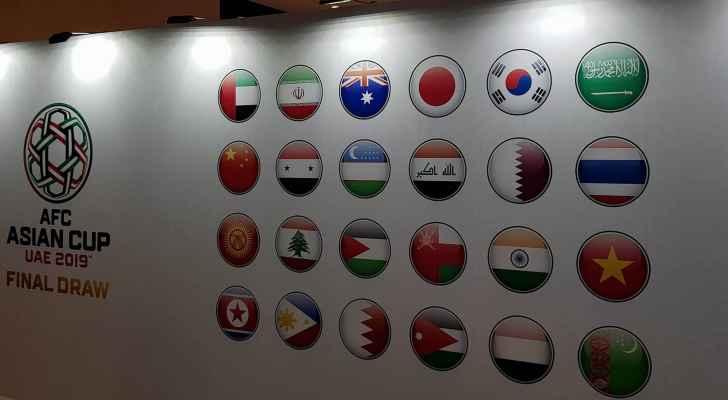 مجموعة النشامى بكأس اسيا هي المجموعة الثانية بجوار فلسطين وسوريا واستراليا