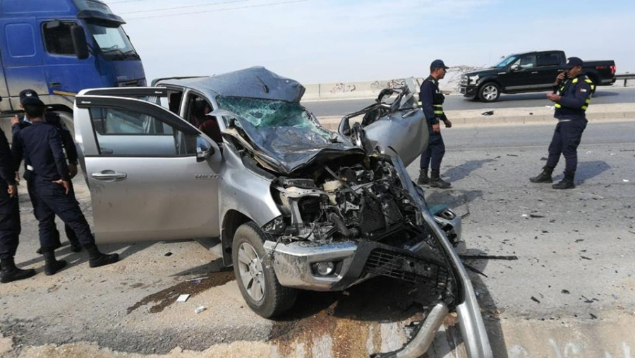 7 إصابات بحادث تدهور مركبة في العقبة