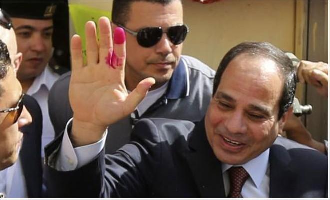 رسمياً ..  السيسي رئيساً لمصر بعد فوزه بنسبة 97%