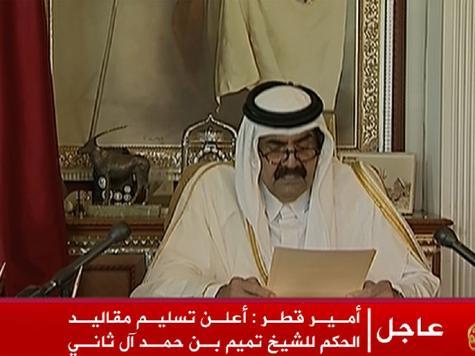 بالفيديو  ..  أمير قطر يعلن تسليم الحكم لولي عهده