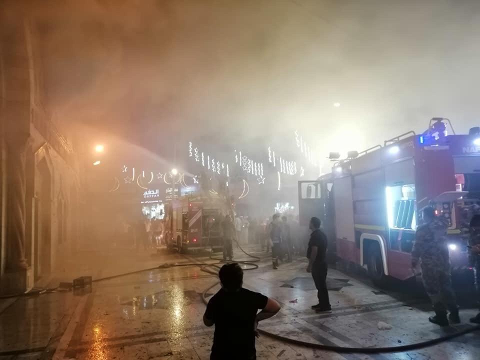 الأوقاف توضح اسباب حريق المسجد الحسيني