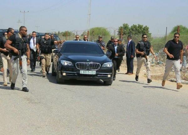 مجهولون يهاجمون موكب وزارء حكومة التوافق قرب معبر بيت حانون