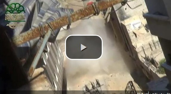 بالفيديو ..تفجير نفقين تابعين لنظام الأسد بالقرب من دمشق