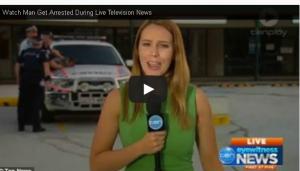 بالفيديو: اعتقال لص أثناء تقرير إخباري على الهواء مباشرة