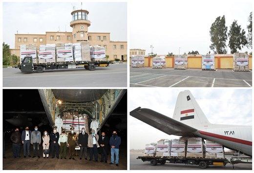 تزامناً مع وصول السيسي ..  طائرة مساعدات مصرية تحمل أدوية ومستلزمات طبية تصل الأردن