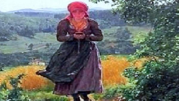 """شيء يشبه """"الآيفون"""" بين يدي فتاة عاشت قبل 157 سنة"""