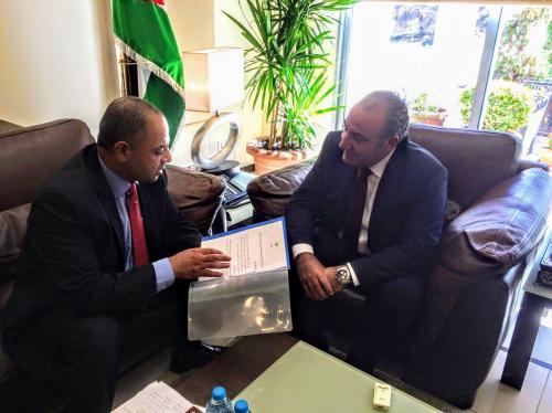 ابو صعيليك يسلم امين عمان دراسة لاحتياجات عمان