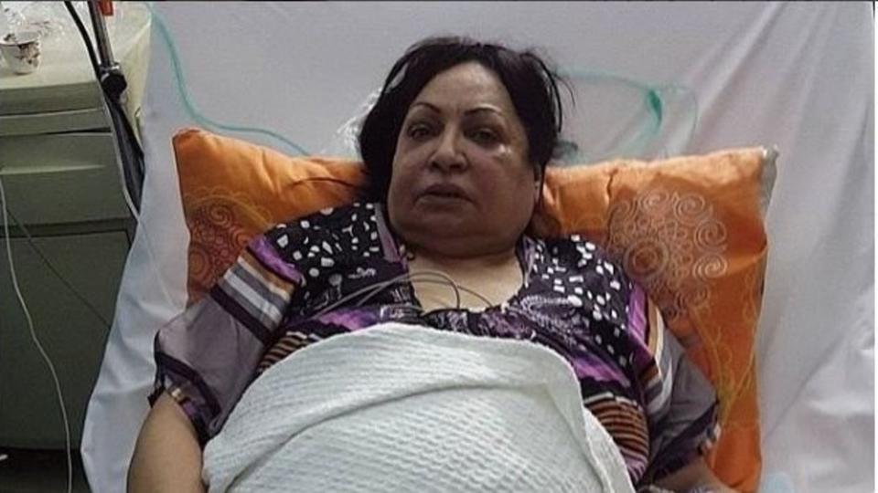 مكالمة تفاجئ نجمة دراما الكويت التي ترقد بالمستشفى