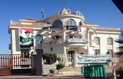 """نظام الأسد يحتل منزل الاعلامي فيصل القاسم  ... و القاسم يرد : تصرفات عصابات و لصوص """" صورة """""""