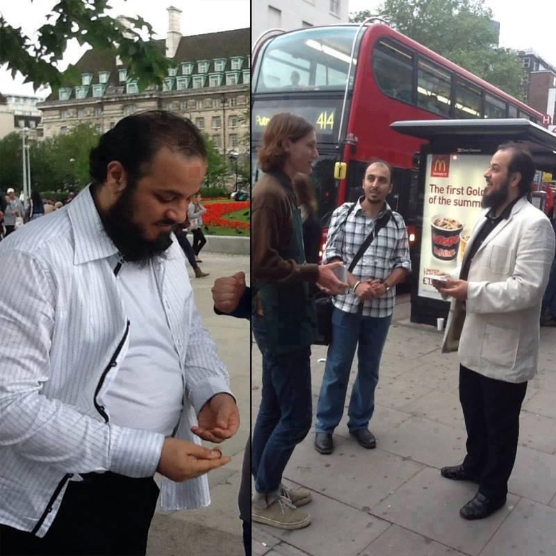 صور تثير الجدل للشيخ العريفي : يدعو الشباب للجهاد في سوريا ويصيف بـ لندن ..