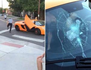 بالفيديو.. تحطّم زجاج سيارة الـ 250 ألف دولار.. فمن المخطئ؟