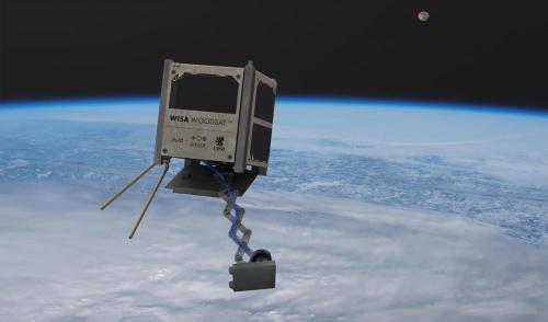أول قمر اصطناعي خشبي يحمل مستشعرات تجريبية من وكالة الفضاء