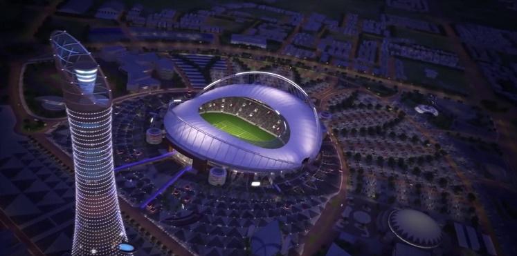 بالصور .. شاهد أول ملاعب كأس العالم 2022 يستضيف نهائي كأس أمير قطر
