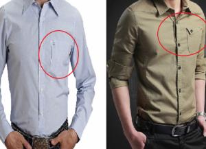 لماذا يوضع الجيب على الجهة اليسرى عادة للقميص؟