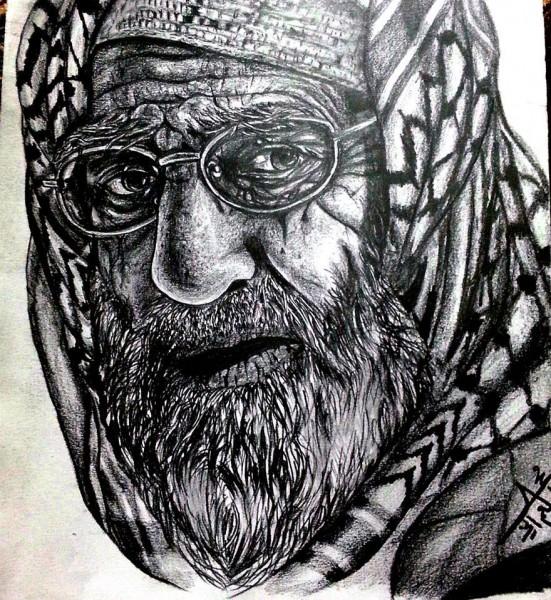 بالصور  ..  الفنان الفلسطيني الذي يحلم بالعالمية