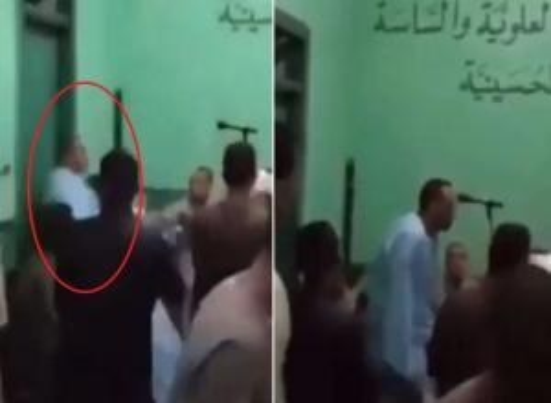 """بالفيديو  ..  لحظة وفاة منشد """"صوفي"""" في مصر وسط قرع الطبول في أحد الاحتفالات"""