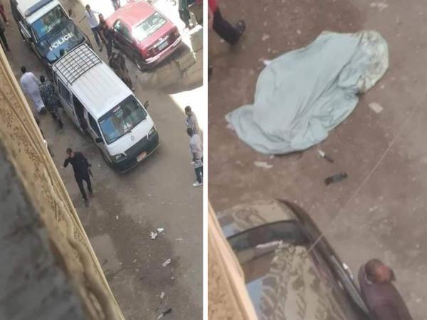 مصري يقتل والدته طعنًا وسط الشارع في نهار رمضان ..  صورة
