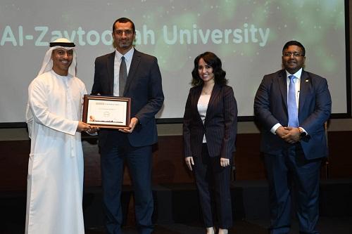 الزيتونة الأردنية تستلم شهادة تقديرية في تصنيف البريطاني للجامعات العالمية