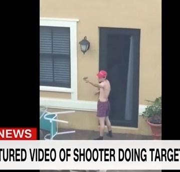 فيديو جديد ..  سفاح فلوريدا يتدرب على إطلاق النار