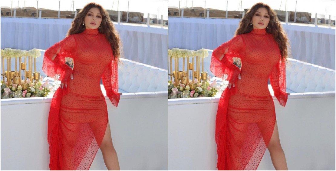 """كم يبلغ سعر فستان هيفاء وهبي الأحمر في """"أسود فاتح""""؟"""