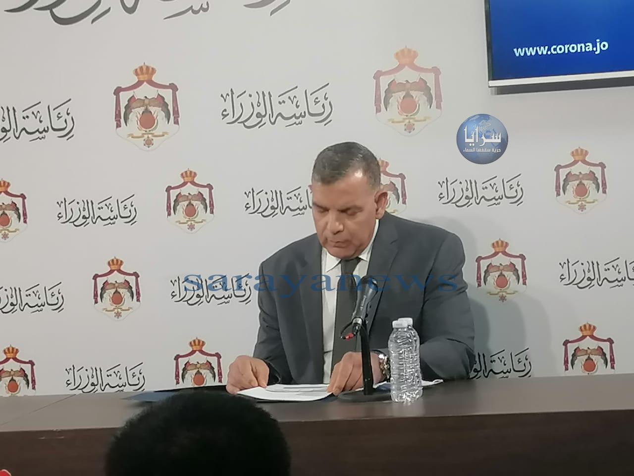جابر لسرايا: الوضع الوبائي في العالم لا يزال خطرا وعودة الحظر مرهونة بالوضع الوبائي في الأردن داخلياً