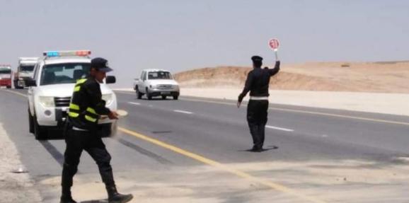 ضبط 30 مركبة تسير بعكس اتجاه السير على الطريق الصحراوي وطريق الزرقاء