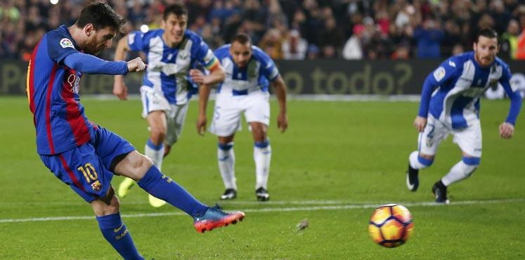 بالفيديو..ثنائية ميسي تقود برشلونة لفوز باهت على ليجانيس في الدوري الإسباني