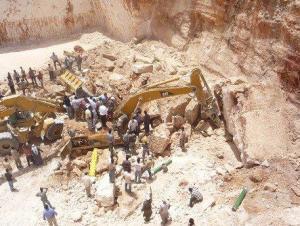 توقيف 10 اشخاص من أصحاب مقالع حجرية بالبادية الشمالية
