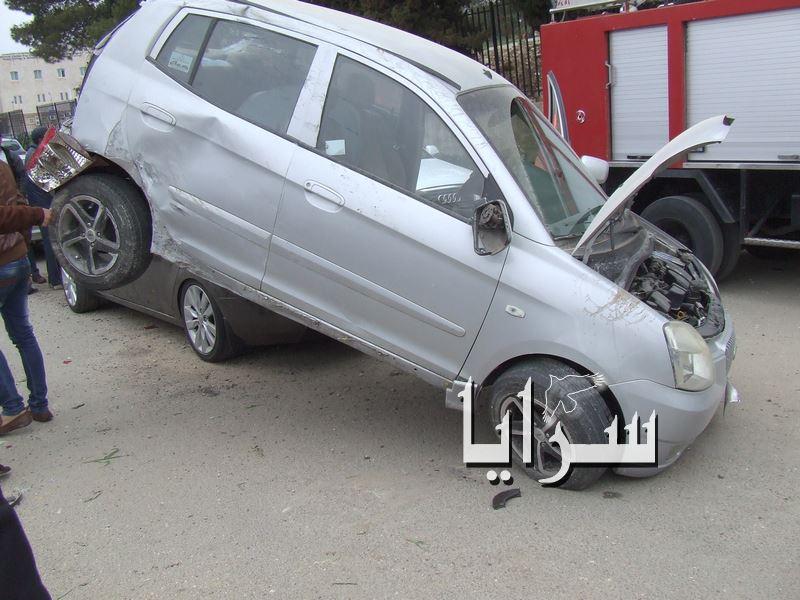 حادث غريب في شارع الجامعة... صور