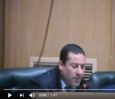 بالفيديو كلمة النائب غازي الهواملة
