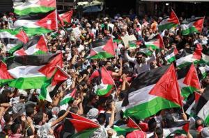 وقفة تضامنية مع القدس وغزة بالقرب من السفارة الإسرائيلية