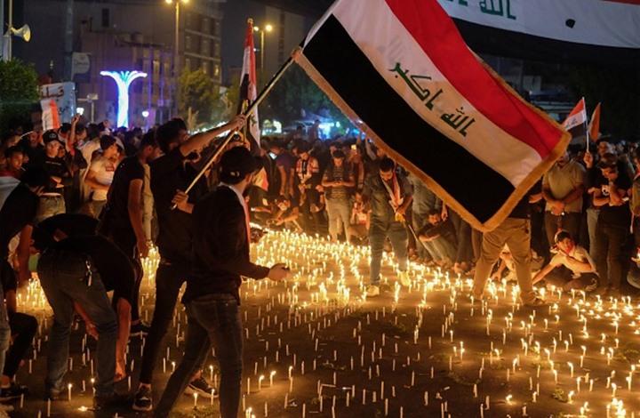 تواصل الاحتجاجات في العراق وإغلاق شوارع وحرق خيام اعتصام