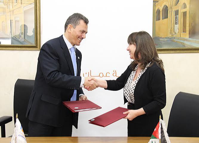 توقيع مذكرة تفاهم بين مؤسسة الملكة رانيا للتعليم والتنمية وجامعة عمان العربية