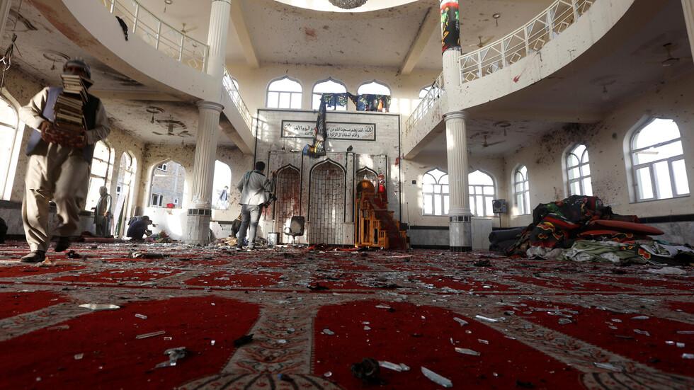 ارتفاع حصيلة الهجوم على مسجد في أفغانستان إلى 62 قتيلا