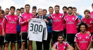 ريال مدريد يُكرم رونالدو بقميص تذكاري