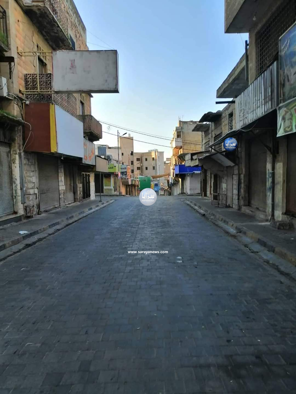 بالصور ..  هكذا بدت شوارع مدينة اربد مع سريان الحظر الشامل