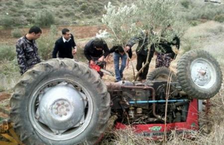 وفاة ستيني بحادث تدهور جرار زراعي في اربد