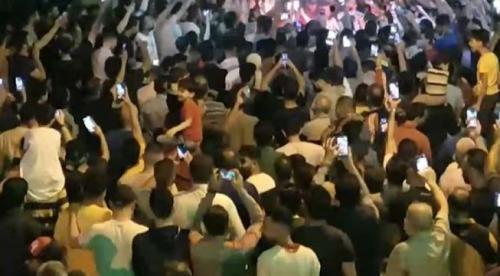 الأردنيون يخرجون في إربد تنديدا بعدوان الاحتلال الاسرائيلي على القدس وغزة