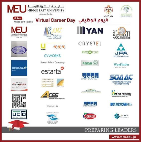 جامعة الشرق الأوسط  MEUتقيم اليوم الوظيفي بالتعاون مع صندوق الملك عبدالله الثاني