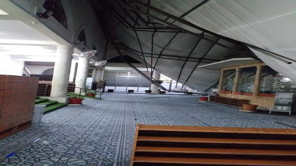 """""""قبة سماوية"""" زجاجية جديدة للمسجد الحسيني على نفقة الملك  .. فيديو"""