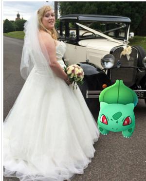 بالصور: في ليلة زفافها.. تركها عريسها لمطاردة البوكيمون !