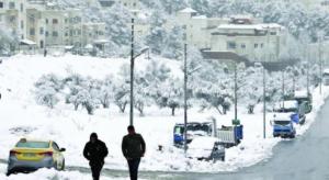 منخفض جوي مصحوب بكتلة هوائية باردة الأحد و تساقط الثلوج على هذه المرتفعات