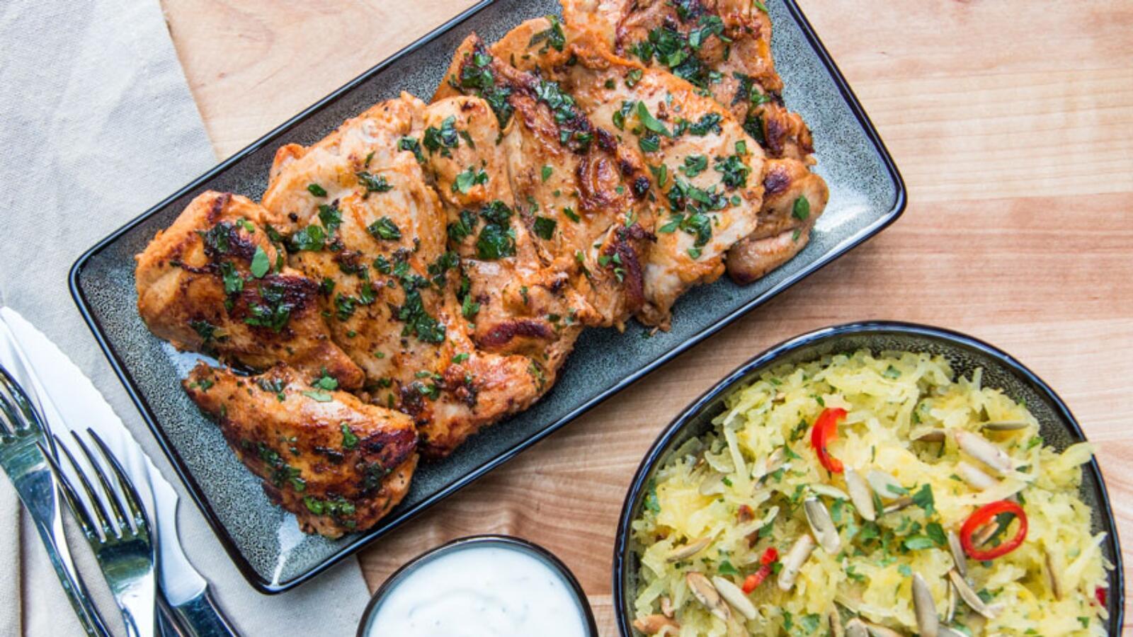 أطباق رمضانية: دجاج مشوي باللبن الرائب