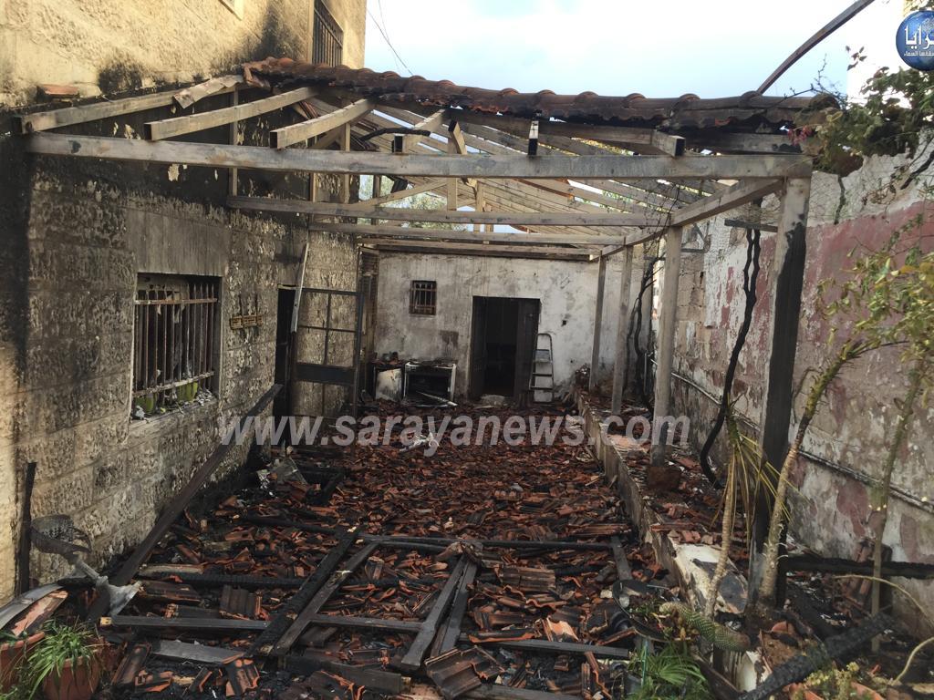 بالفيديو  ..  الصواعق تحرق منزلا في شفا بدران والدفاع المدني وصل بعد 45 دقيقة