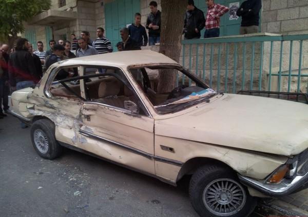 بالصور  .. إصابتان في حادث سير بين ثلاث مركبات بمحافظة بيت لحم